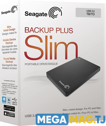 Изображение Seagate Backup Plus Slim 1TB