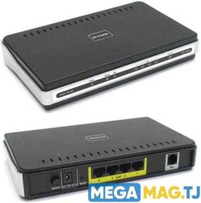 Изображение D-Link DSL-2540U/BRU  Маршрутизатор ADSL2+