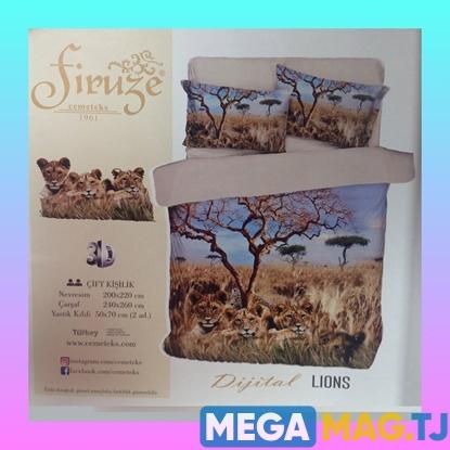 Изображение Комплект постельного белья Firuze 3D Lions