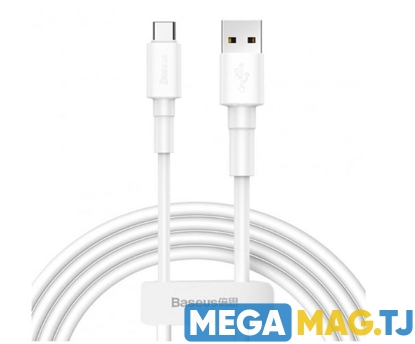 Изображение Kабель Baseus Mini White 3A USB - Type C 1m Белый