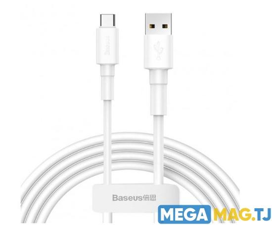 Изображение Kабель Baseus Mini White 3A USB - Type C 1m Белый