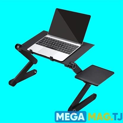 Изображение Стол трансформер для ноутбука Laptop Table T8 с подставка для мышки