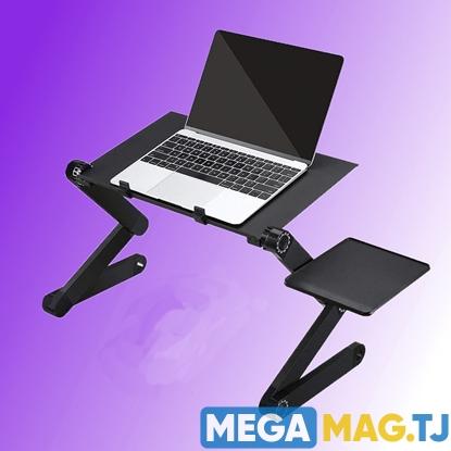 Изображение Столик-трансформер многофункциональный для ноутбука с полкой для мышки